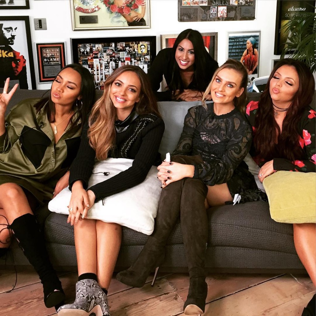 Great to catch up with the littlemix girls today hellip