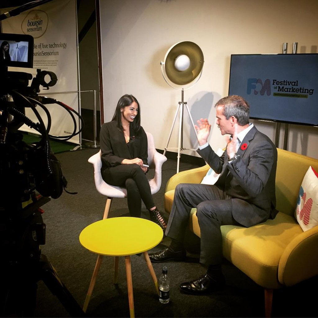 A genuine honour to interview CmdrHadfield at the FestOfMarketing todayhellip